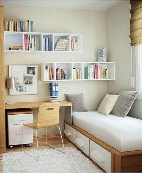 √ 26 Small Bedroom Ideas for Couples, Teenage Girl & Boy on a Budget images