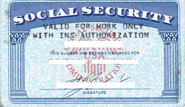 Social Security Card Template Note Card Template Cards Card Templates Free