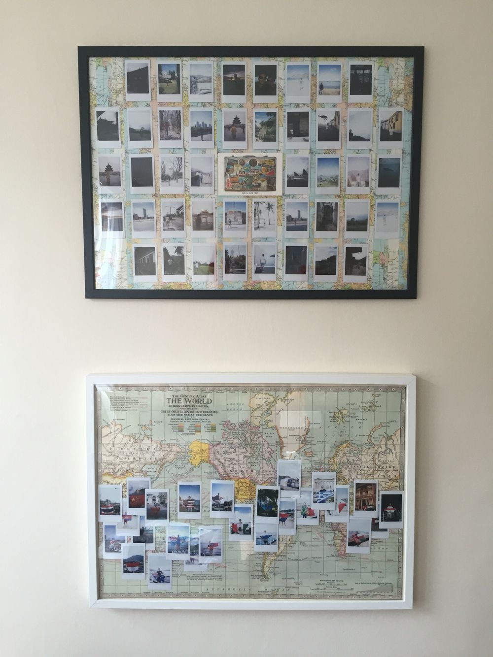 Travelling polaroid display pinteres for Travel gallery wall ideas