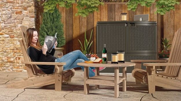 The Backyard Oasis® Storage and Entertaining Station will ...