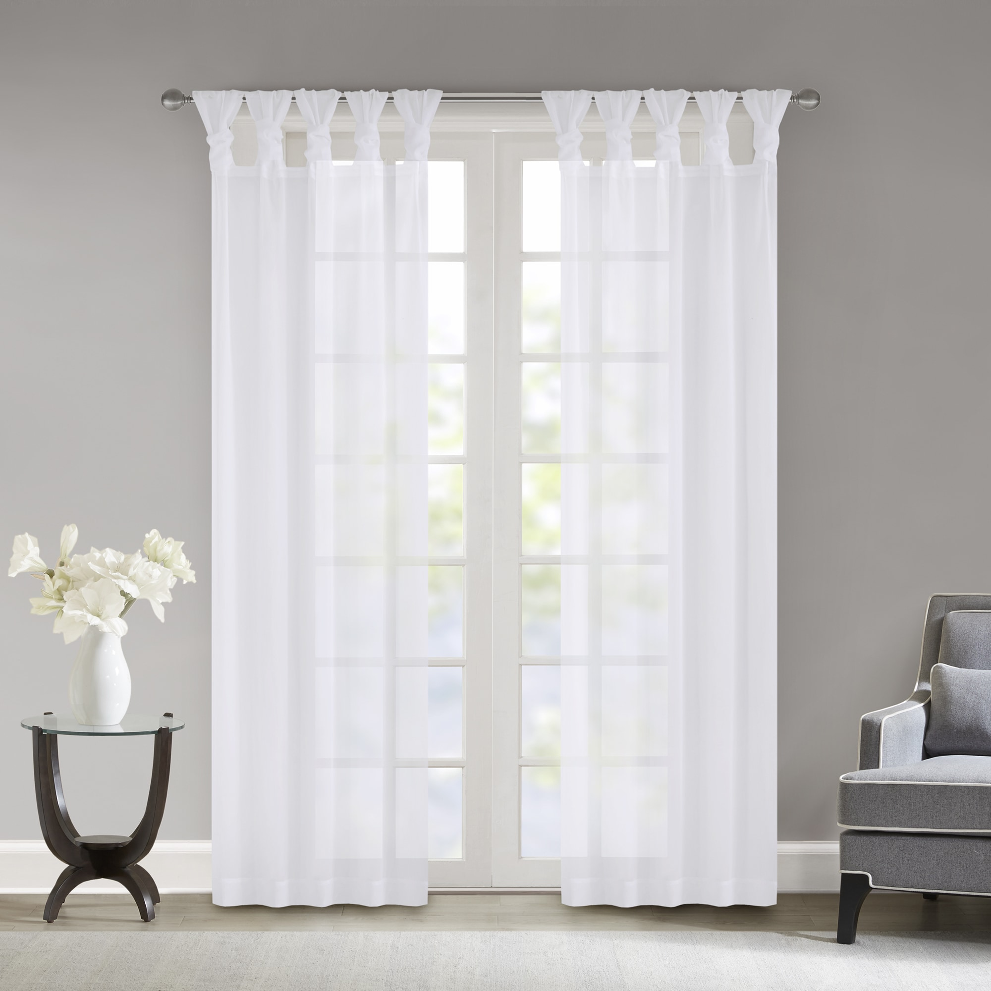 treatment panel crinkle sheer v chantelle curtain light p voile cream window curtains tailored floral
