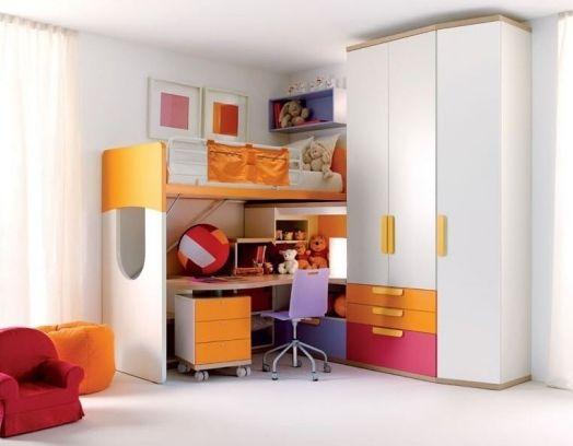 sparen sie platz im kinderzimmer ideen fr hochbett mit schreibtisch - Coolste Etagenbetten Mit Schreibtisch