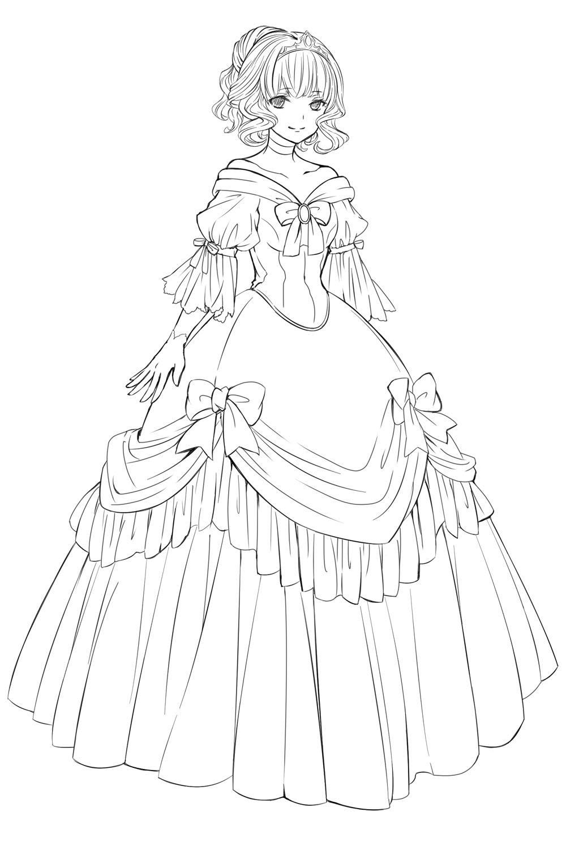 お姫様 ドレス イラスト , Google 検索【2019】