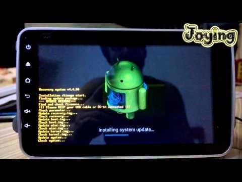 Update quad core high resolution 1024*600 android system for Joying