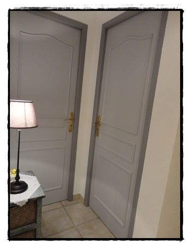 portes deux tons gris couloirs gris pinterest deux tons couloir et gris. Black Bedroom Furniture Sets. Home Design Ideas