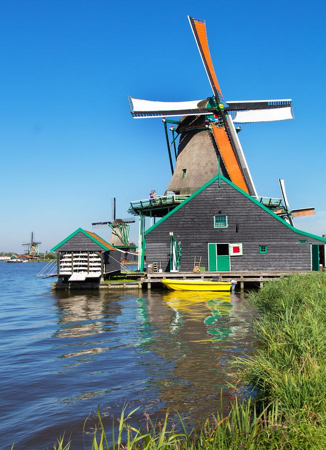 Zaanse Schans By Teuni Stevense 500px Dutch Windmills Netherlands Windmills Holland Netherlands