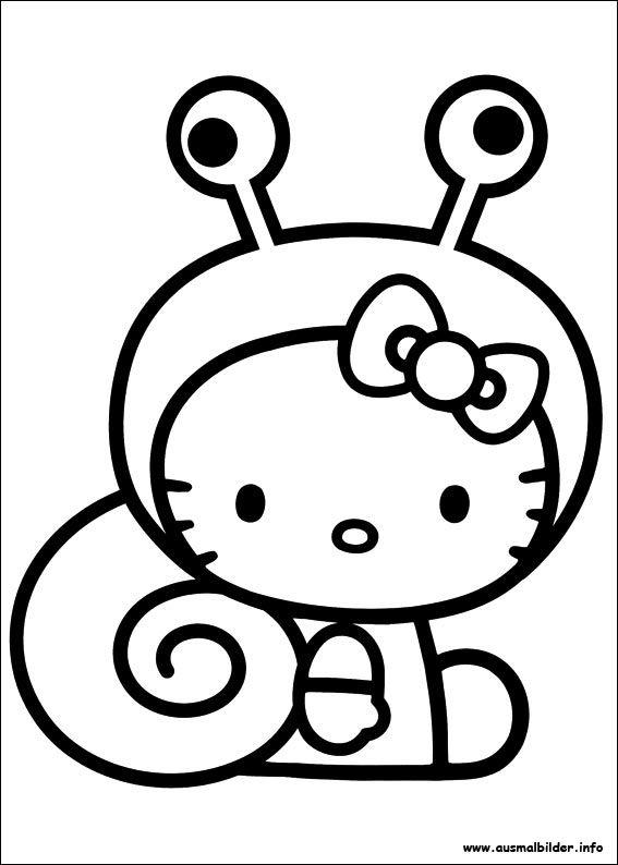 hello kitty ausmalbilder – Ausmalbilder für kinder | Ausmalen ...