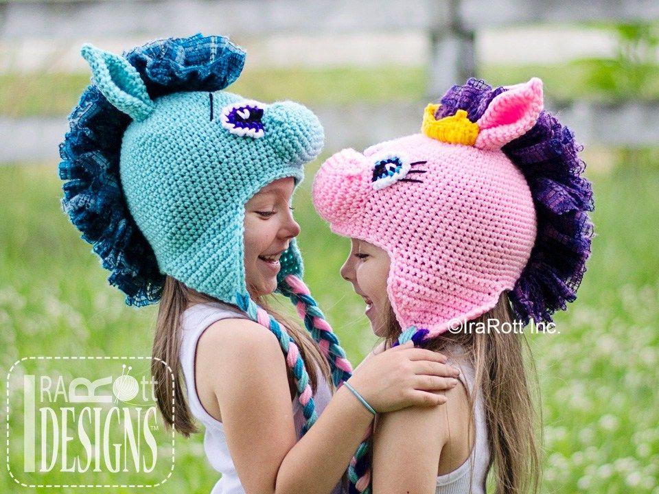 Horse Pony Or Unicorn Animal Hat Crochet Pattern By Irarott