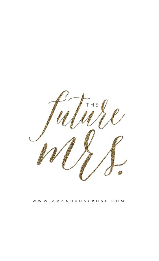 Watercolor Quote Iphone Wallpaper The Future Mrs Iphone Wallpaper Adr Paper In 2019