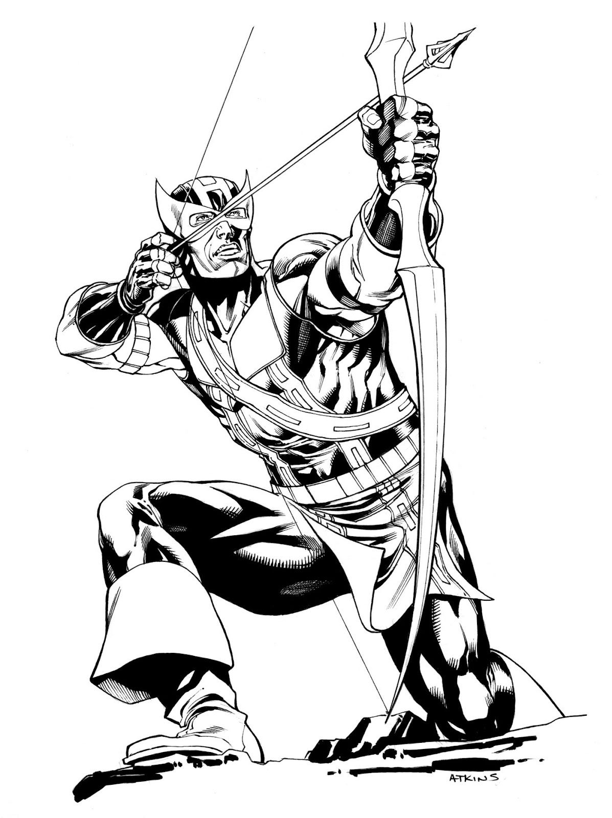 Robert atkins art avengers hawkeye comic book for Marvel hawkeye coloring pages