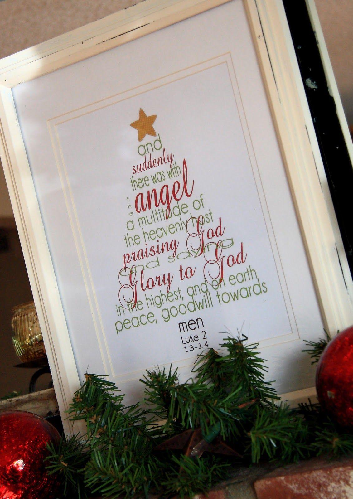 Free Printable Christmas Scripture Tree   Christmas Everything ...