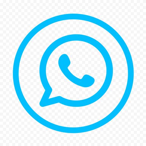 Hd Light Blue Round Outline Whatsapp Wa Logo Icon Png Logo Icons Logos Icon