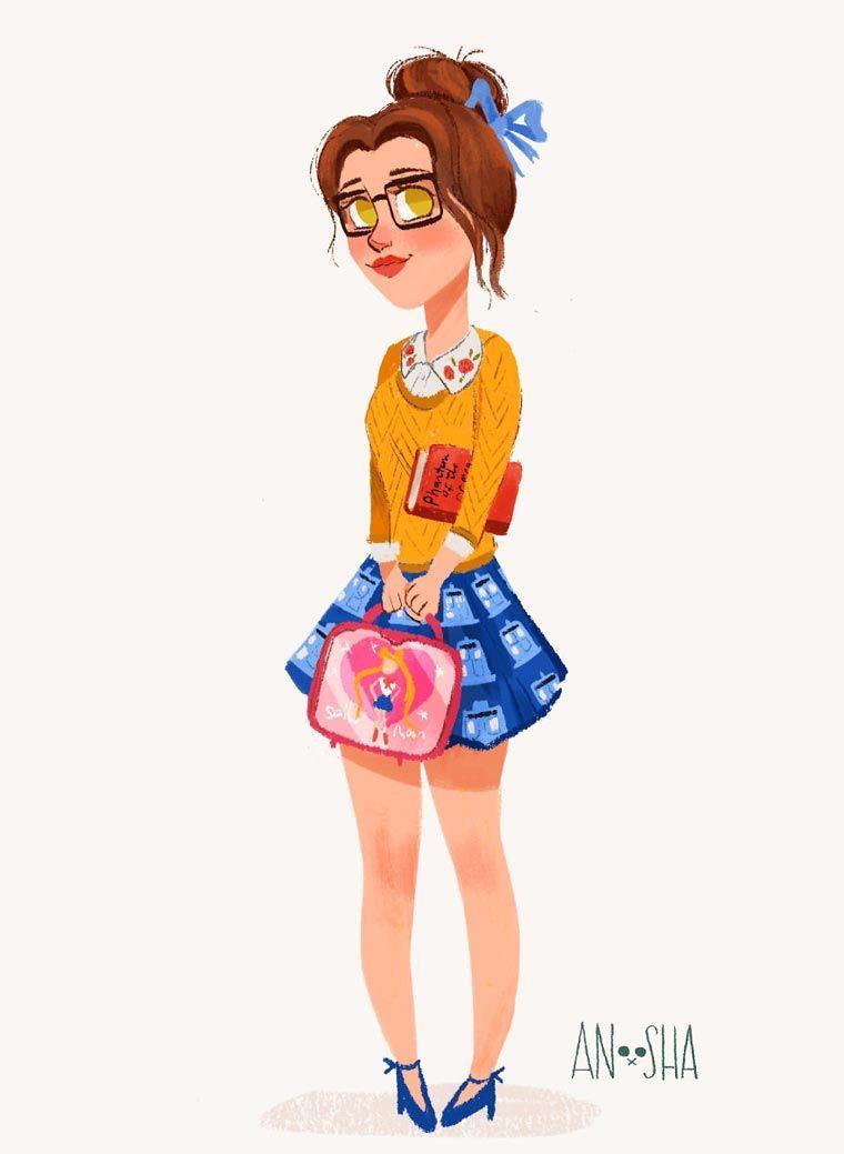 _Anoosha-Syed-modern-disney-Princesses-4