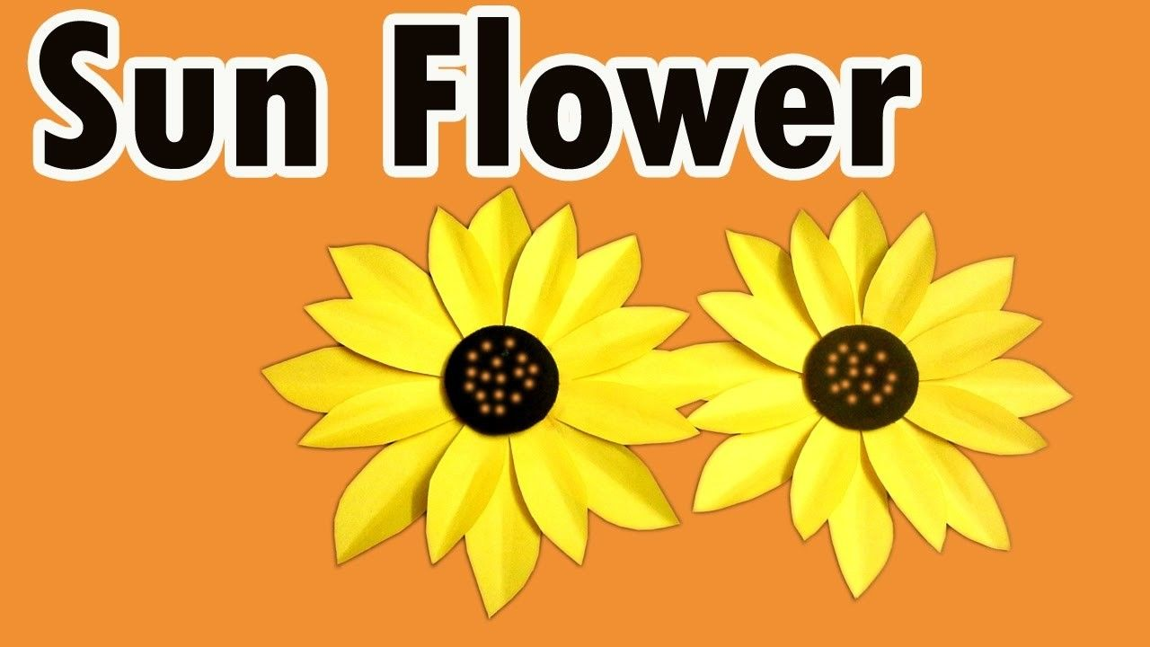 How To Make Sunflower From Crepe Paper Craft For Kids Paper