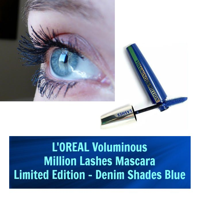 4a8714048fe L'OREAL PARIS Voluminous Million Lashes Denim Shades Mascara (Limited  Edition) - [718] Blue , 0.3 Fl oz (9 ml)