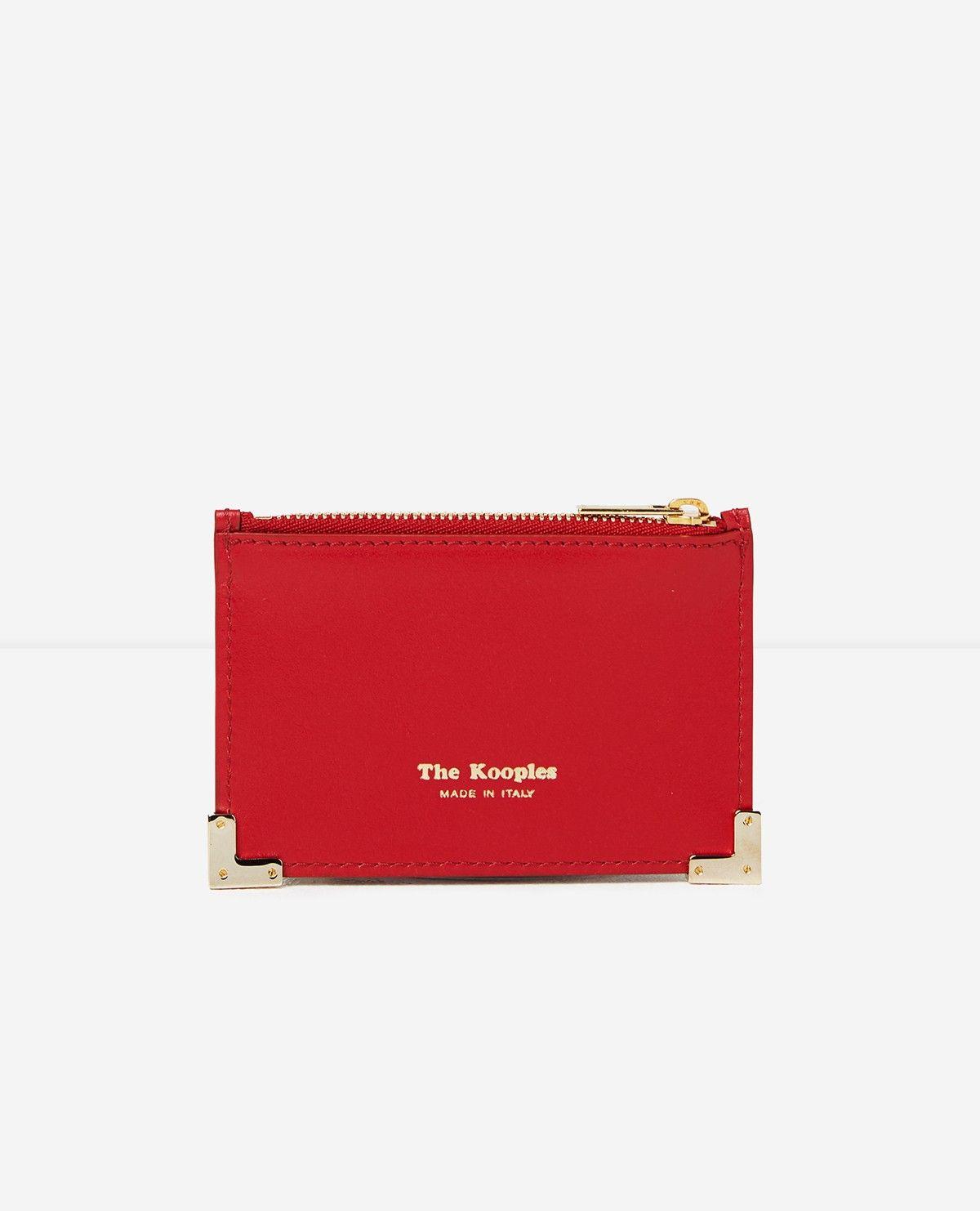 The En Cuir Kooples Cartes RougeWish 2019 Lisse Porte dxoreBC