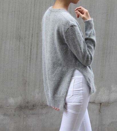 sweater long in the back - Google Search | lounge trend: long back ...