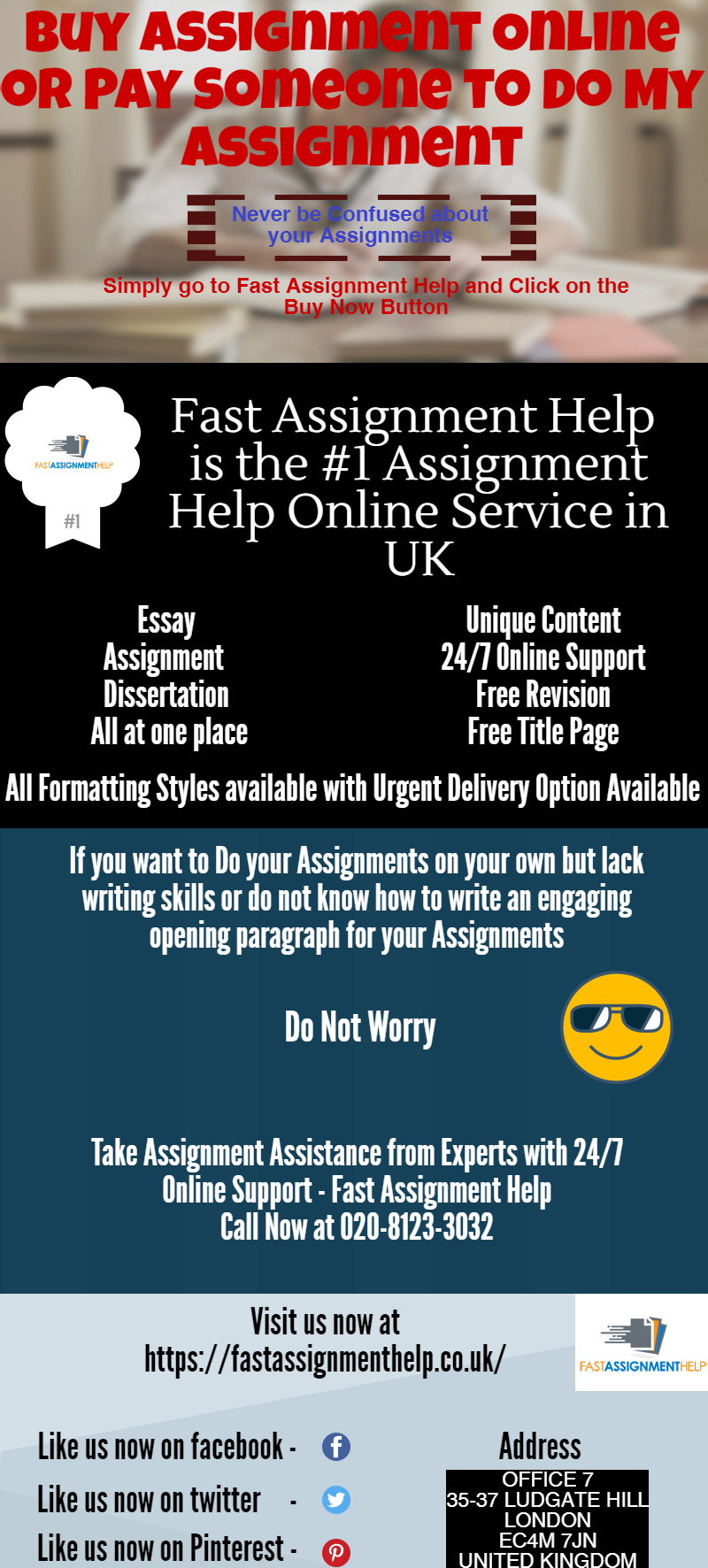 Pay to get assignments done