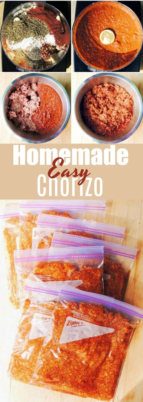 Easy Homemade Chorizo - Authentic tasting homemade chorizo is simple to make, ad much healthier than the commercially prepared kind! |