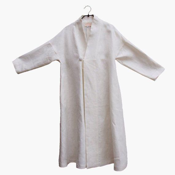 Kimono de lino gordo blanco por carapao en Etsy, €109.20