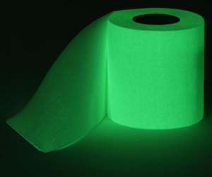 Glow in the Dark Toilet Paper--Now you'll no longer struggle to relieve yourself during those half awake bathroom visits in the middle of the night. Functional and fun, you'll know you're getting a complete wipe when the toilet paper stops glowing. Hahaha!