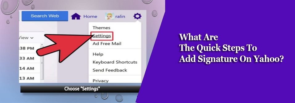 What Are The Quick Steps To Add Signature On Yahoo Free Stuff By Mail Best Email Service Ads