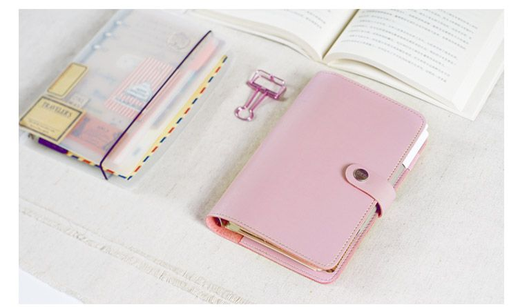 Pu leather spiral loose leaf refillable softcover portable notebook