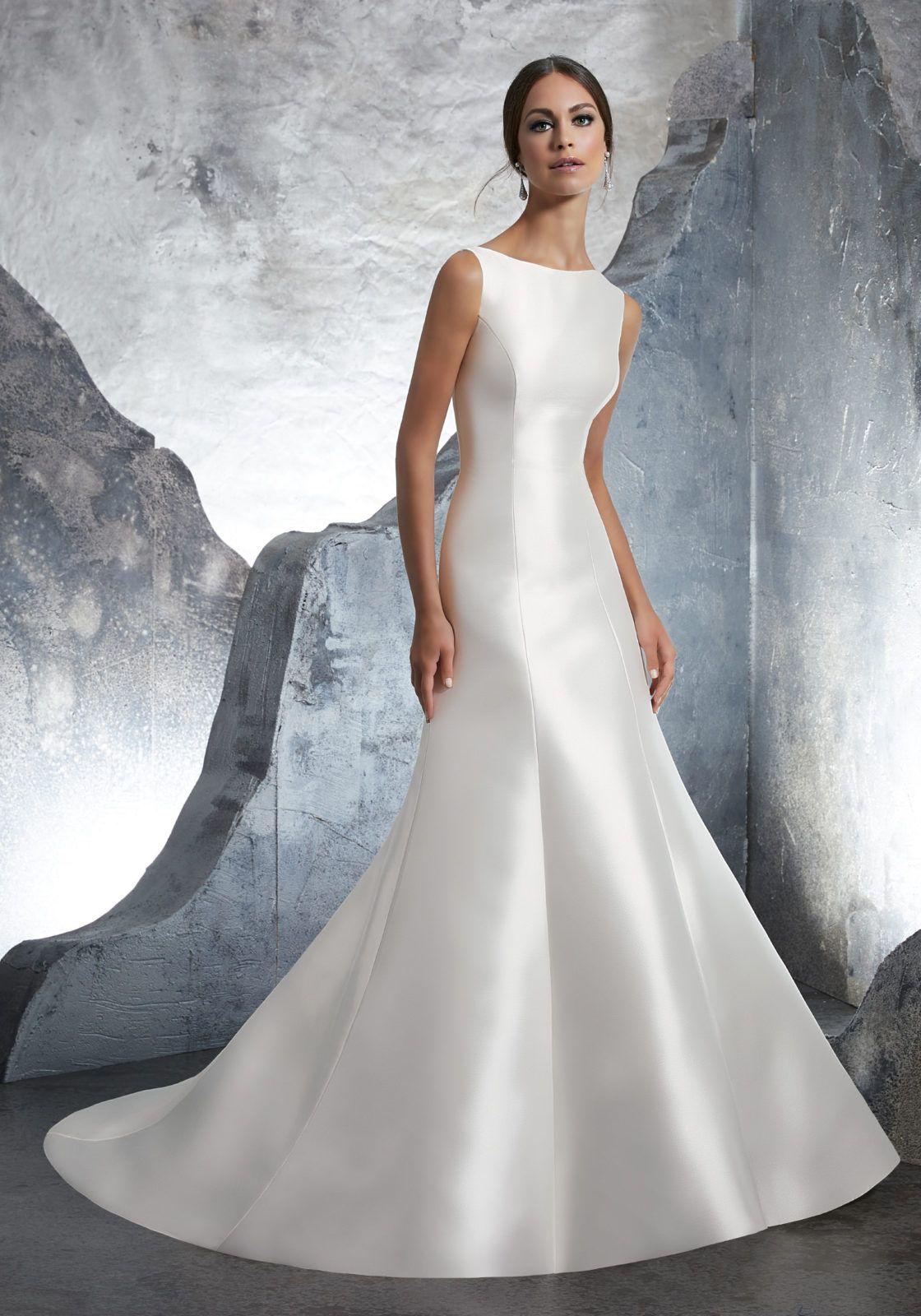 Kassandra Wedding Dress Morilee Plain Wedding Dress Wedding Dresses Satin Wedding Dress Styles