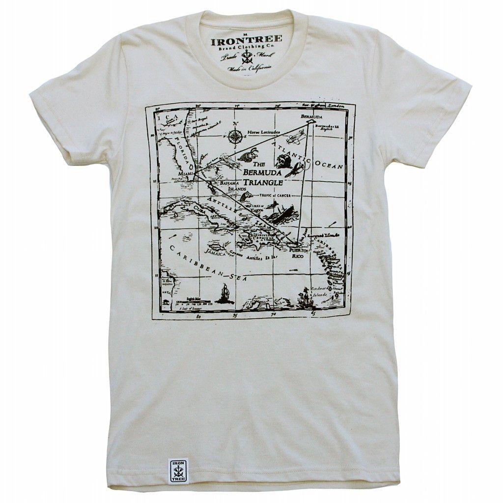 Bermuda Triangle: Women's Organic Fine Jersey Short Sleeve T-Shirt in Unbleached Natual