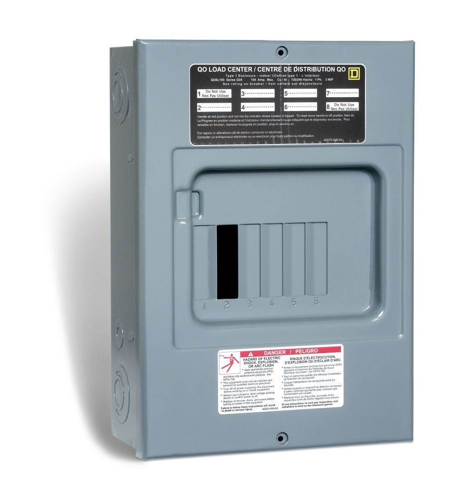 100 Amp Sub Panel Loadcentre With 6 Spaces 12 Circuits Maximum Paneling Circuit Submarine