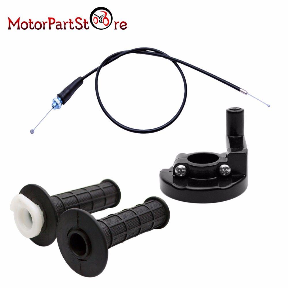 Pit Dirt Bike ATV Throttle Accelerator Grip Twist Cable for 110-200cc Bike
