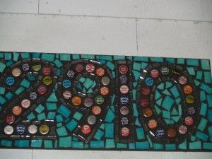 bottle cap numbers at The Family Tree