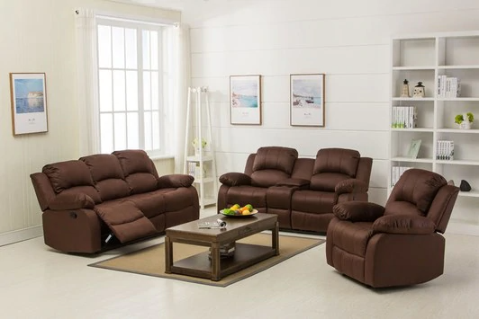 Veria 6 Seater Recliner In Dark Brown, Odds And Ends Furniture