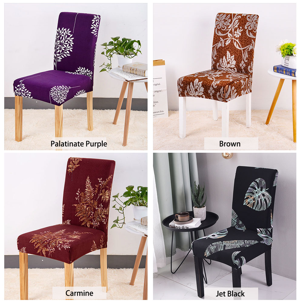 Stretch Printed Design Dining Chair Cover - 24 Color (With ...