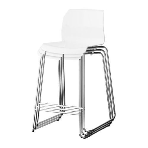 Glenn Bar Stool Black Chrome Plated Chrome Plating