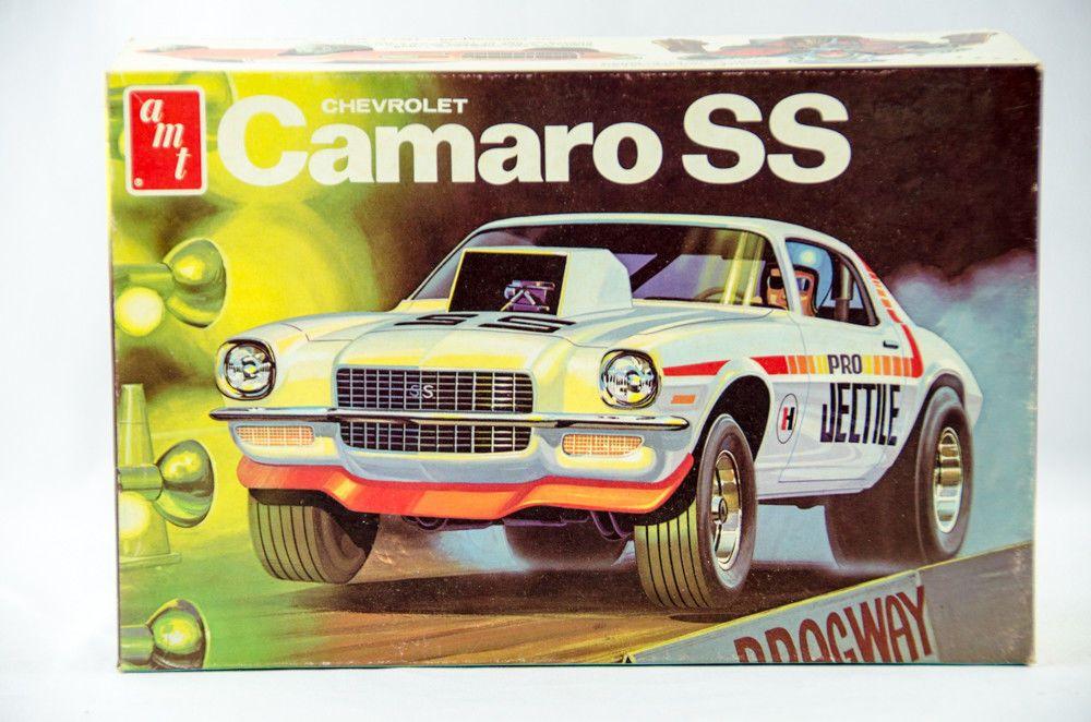 Super Rare Vintage Amt Chevy Camaro Ss 1 25 Scale Model Car Kit