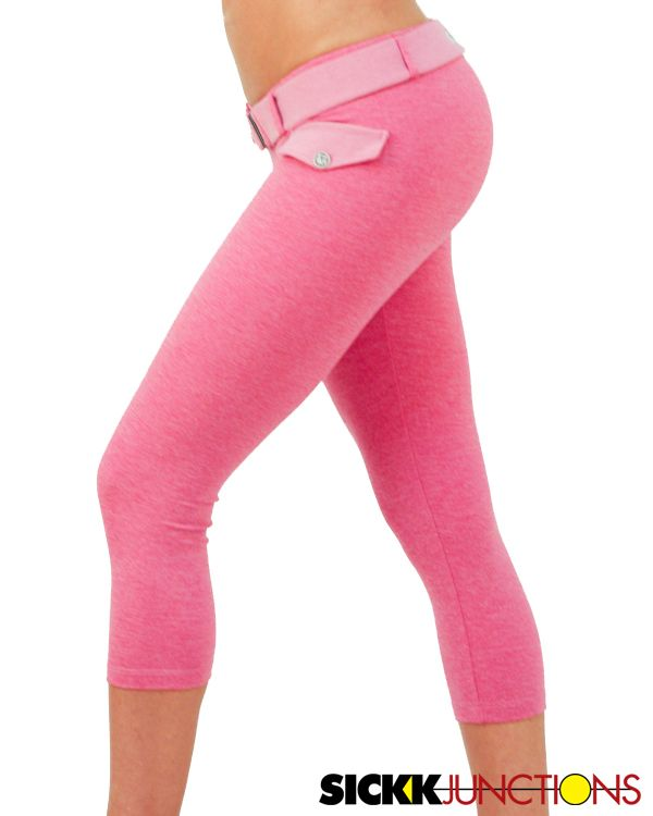 a62ad5fc0686f Brazilian Workout Wear  Achromatic Rose Pink Little Fake Pocket Capri.  Amazing butt sculpting capri with the cutest little fake pocket in the  front