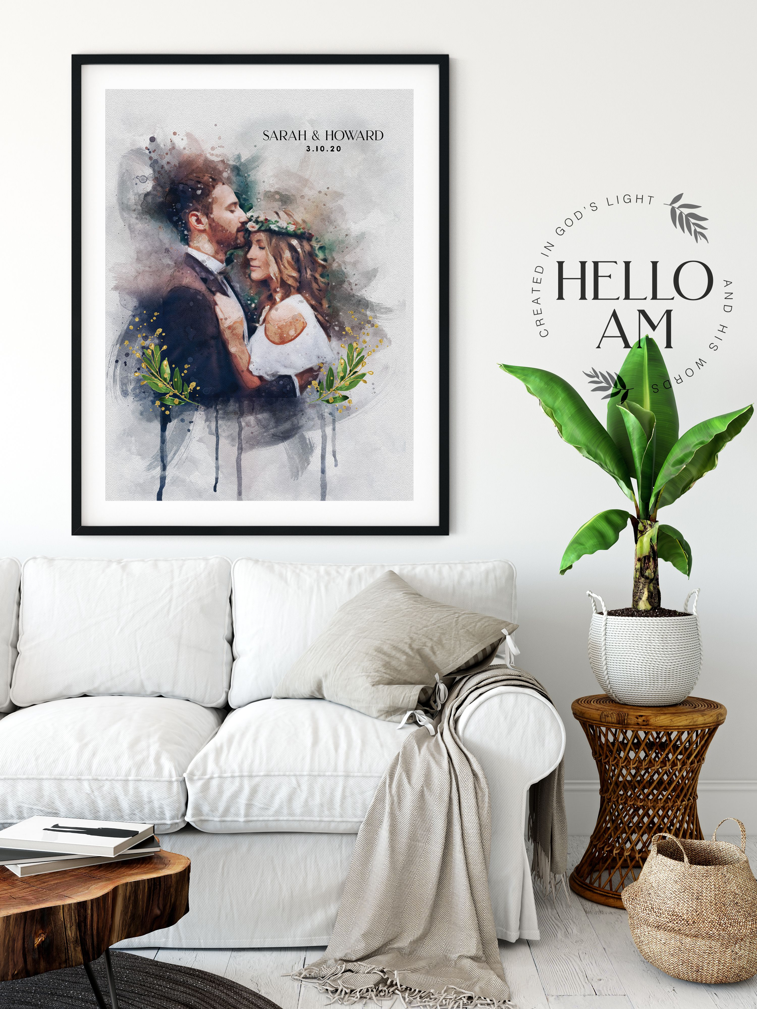 Painting From Photo Wedding Illustration Custom Wedding Etsy In 2020 Wedding Illustration Portraits From Photos Watercolor Portraits