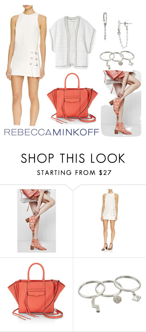 """""""Rebecca Minkoff Orange & White"""" by christine-sacco ❤ liked on Polyvore featuring Rebecca Minkoff, women's clothing, women, female, woman, misses, juniors, rebeccaminkoff, contestentry and seebuywear"""