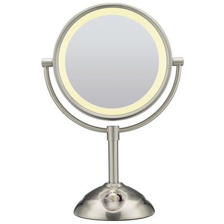Best Conair Satin Nickel Double Sided Lighted Mirror Walmart 400 x 300