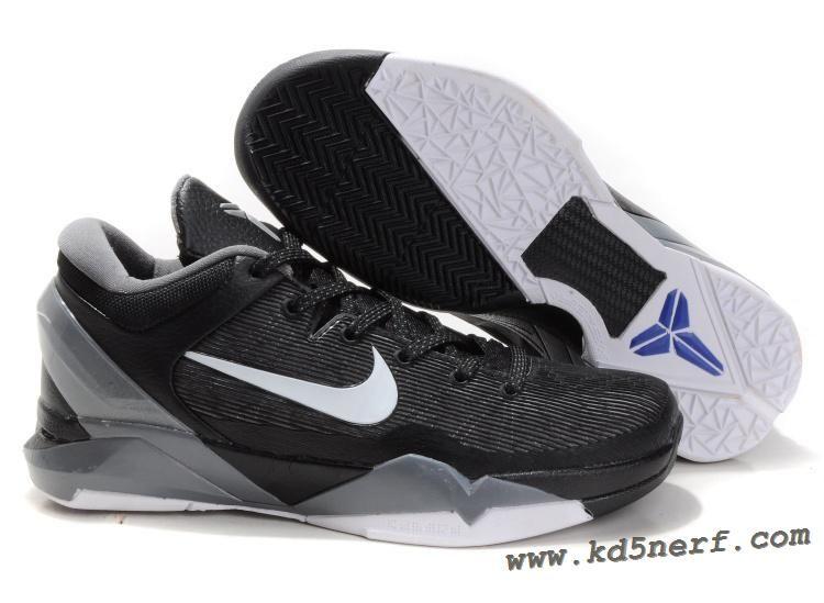 best website 34cd6 f05ad Nike Zoom Kobe 7 Shoes Black White Grey Hot