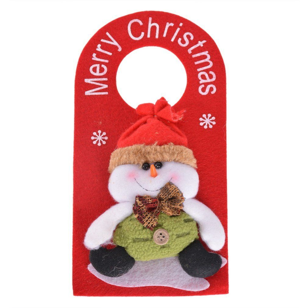 Souarts Plush Christmas Snowman Door Welcome Hanger Hangtag * Read more reviews of the product by visiting the link on the image.
