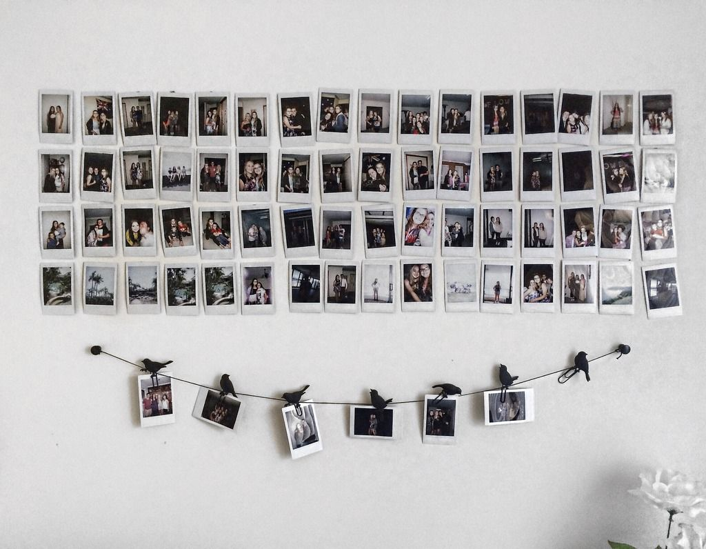 Hanging Pictures On Walls Without Nails Polaroid Wall Polaroid Walls Pinterest Polaroid Wall