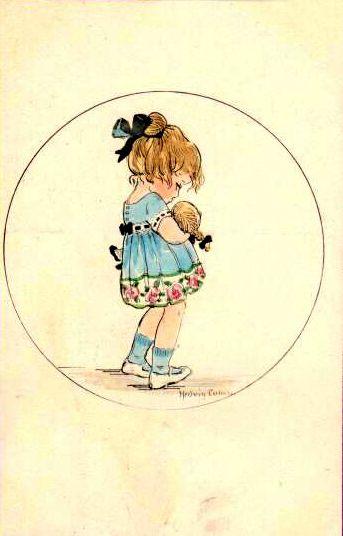Hedvig Collin - little girl illustration