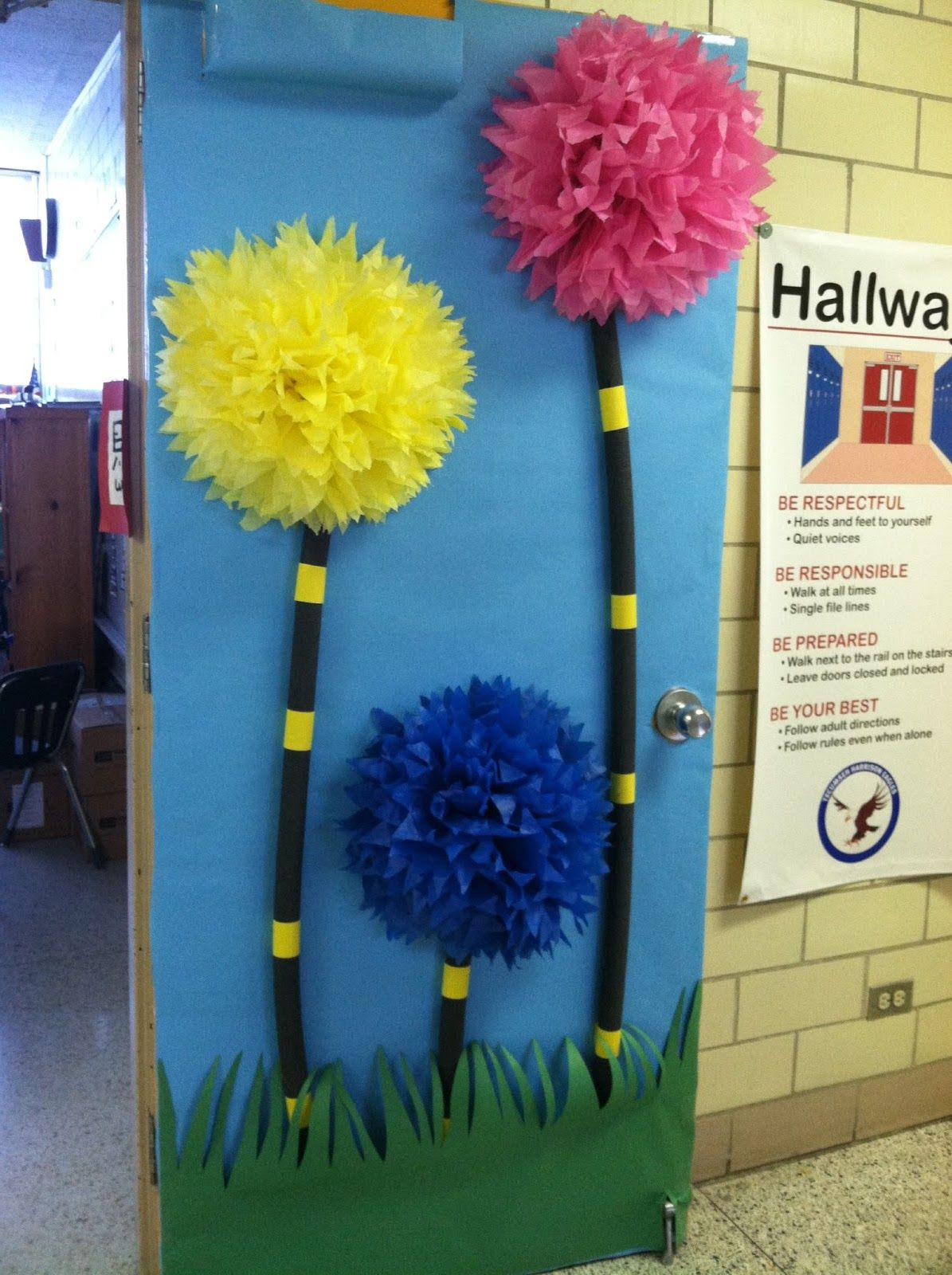Door Decorating Ideas For Spring School Spring Door Ideas For