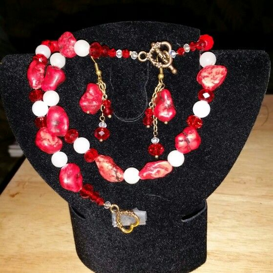 Red Turquoise,  White Jade and Crystal Crafts by Lacacia