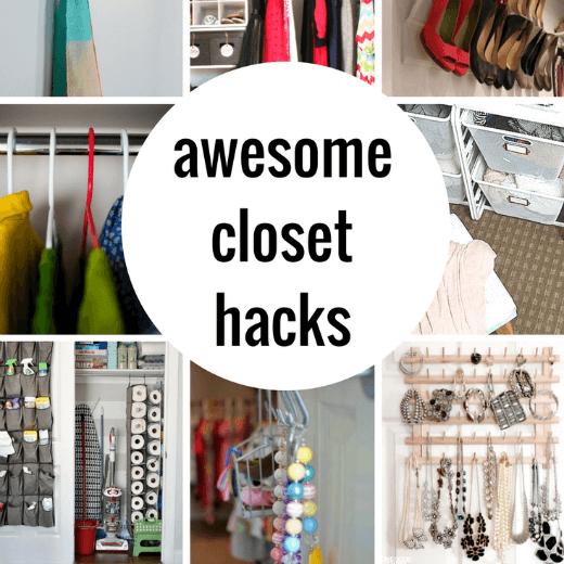 So smart! These closet organization and hack ideas are going to ...
