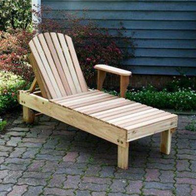 Outdoor Creekvine Designs American Forest Cedar Chaise Lounge - WF5510-2CVD