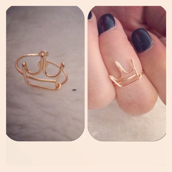 Crown Mid Ring by shopenvyme2013 on Etsy