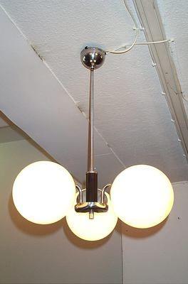 Deckenlampe Bauhaus Art Deco 3 Glaskugeln Lampen Pinterest